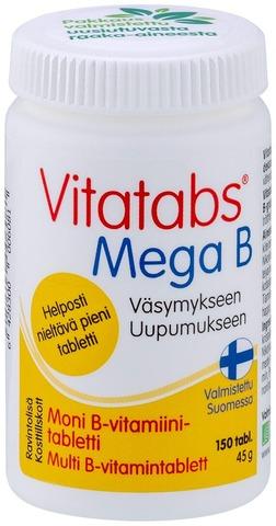 Vitatabs Mega B moni B-vitamiinitabletti 150 tabl