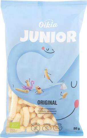 Oikia Junior Original Luomumaissinaksut 90G