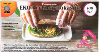 Akro Eko-Kertakäyttökäsine M 100Kpl