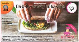 Akro Eko-Kertakäyttökäsine L 100Kpl