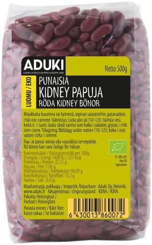 Aduki Luomu Punainen Kidneypapu 500g
