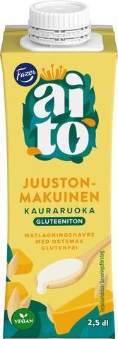 Kaslink Aito gluteeniton juustonmakuinen kauravalmiste ruoanlaittoon 250ml