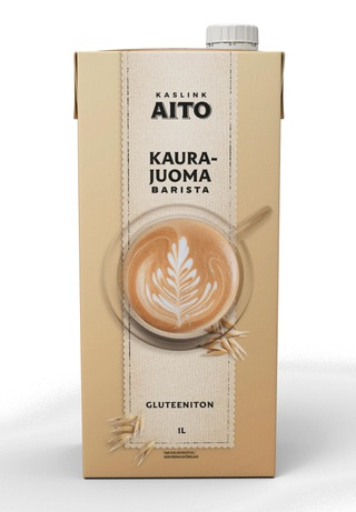 Kaslink Aito UHT Gluteeniton Kaurajuoma Barista 1L