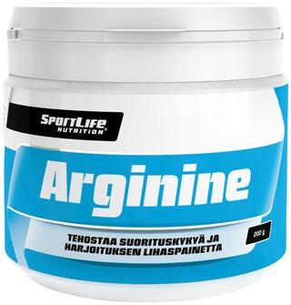 Sportlife Nutrition Arginine 200G  L-Arginiinijauhe