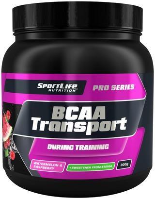 Sportlife Nutrition Bcaa Transport 300G Vesimelooni Vadelma Treenin Aikana Nautittava Aminohappojuoma