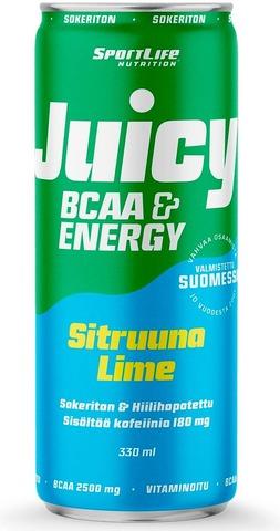 Sportlife Nutrition Juicy Bcaa 330Ml Sitruuna/Lime Hiilihapotettu Virkistysjuoma