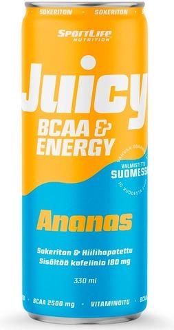 Sportlife Nutrition Juicy Bcaa 330Ml Ananas Hiilihapotettu Virkistysjuoma
