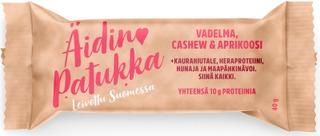 Sportlife Foods Äidin Patukka 40G Vadelma-Cashewpähkinä-Aprikoosi Välipalapatukka