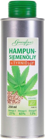 Greenfinns 250Ml Hampunsiemen-Tyrniöljy
