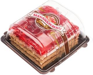 Laitilan Leipä Mansikkakakku 450 G Laktoositon, Maidoton Kerroskakku Mansikan Ystävälle