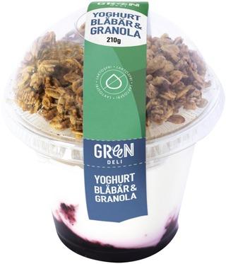 Greendeli Granola & Mustikka Jogurtti 210 G