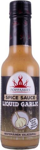 Poppamies Liquid Garlic Nestemäinen Valkosipuli Maustekastike 150Ml