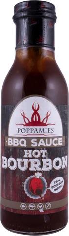 Poppamies Hot Bourbon BBQ chili-viskigrillikastike 410g