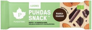 Puhdistamo Puhdas Snack Luomu välipalapatukka Raakakaakao 40g