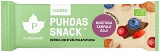 Puhdistamo Puhdas Snack Luomu välipalapatukka Mustikka Karpalo Goji 40g
