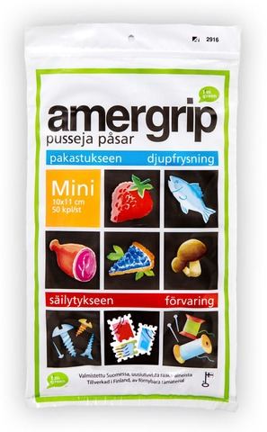 Amergrip 50Kpl/Mini 0,2 L Green Pe Pussi