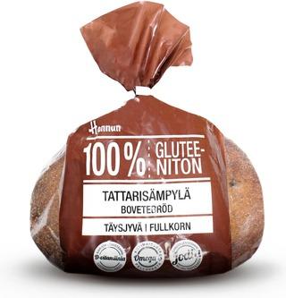 Hannun 100% Gluteeniton Tattari-Pellavasämpylä 4kpl