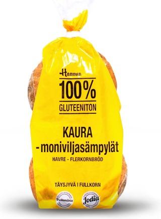 Hannun 100% Gluteeniton Puhdas Kaurasämpylä 4kpl