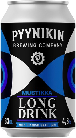 Pyynikin Brewing Company 4,6% Mustikka Long Drink 0,33L