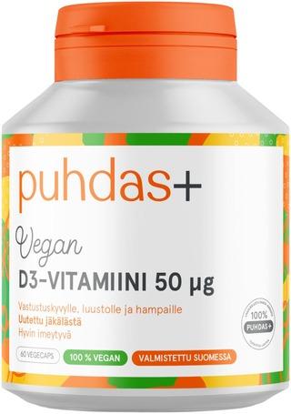 Puhdas+ Kasviperäinen D3-vitamiini 50µg 17g/60kaps