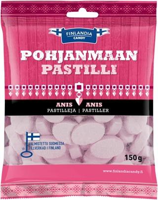 Finlandia Candy Pohjanmaan Pastilli 150G Anispastilleja