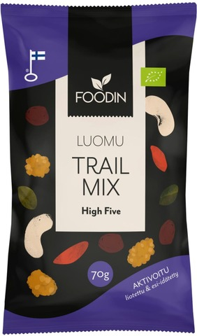 Foodin Activated Trail Mix High Five Luomu 70G