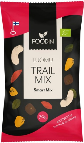 Foodin Activated Trail Mix Smart Mix Luomu 70G