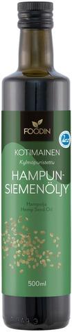Foodin Kotimainen Hamppuöljy 500Ml