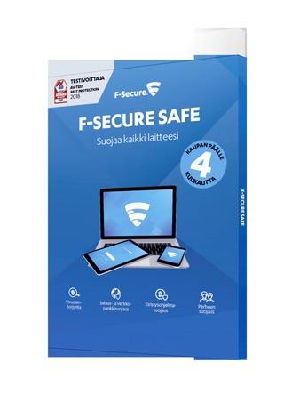 F-Secure Safe 1 Vuosi 3 Laitetta  +4Kk