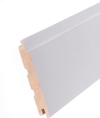 Aure Mä Sts Pn 15X120 Premium 12 % Pp Harjattu Puhtaan Valkoinen Paneeli