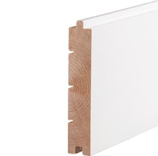 Aure Mä Askel 28 X 145 Premium 10 % Pp Harjattu Maalattu Valkoinen Lattialauta