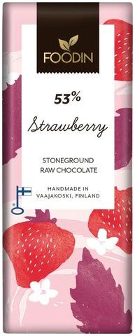 Foodin Luomusuklaa Strawberry 40G
