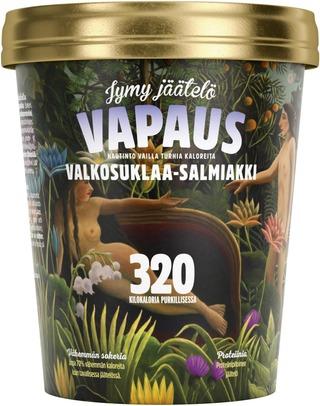 Vapaus Valkosuklaa-Salmiakki Jäätelö 500Ml