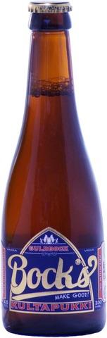 Bock's 0,33L Kultapukki 4,5% Olutpullo