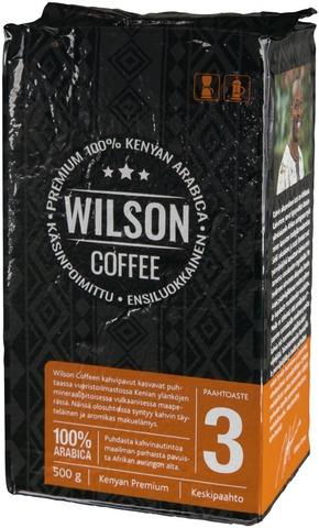 Wilson Coffee 500G 100% Kenyan Arabica Kahvi Keskipaahto Suodatinjauhatus
