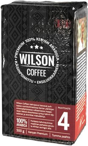 Wilson Coffee 500G 100% Kenyan Arabica Kahvi Tumma Paahto Suodatinjauhatus
