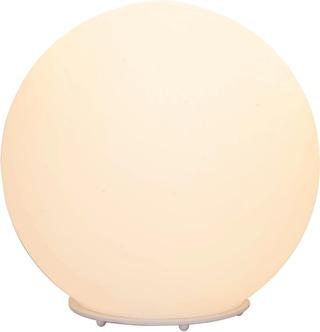 Heat Pallo pöytövalaisin Ø 25cm valkoinen lasi