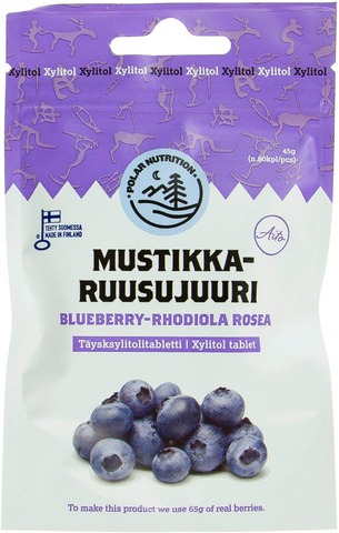 Polar Nutrition 45G Täysksylitolitabletti Mustikka-Ruusujuuri