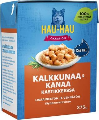 Hau-Hau Champion Kana-Kalkkunapalat Kastikkeessa 375 G