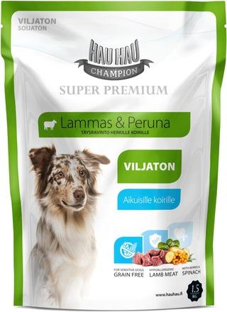 Hau-Hau Champion Super Premium Lammas Viljaton 1,5 Kg
