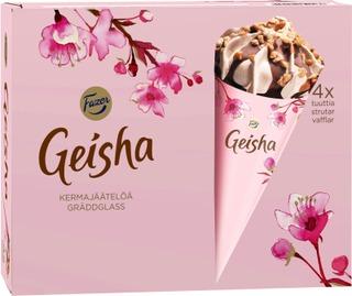 Fazer Kermajäätelötuutti Monipakkaus Geisha 4X70g