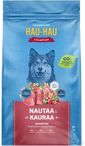 Hau-Hau Champion Nauta-Kaura Täysravinto 10 Kg