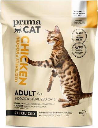 PrimaCat 400g kana steriloiduille aikuisille kissoille