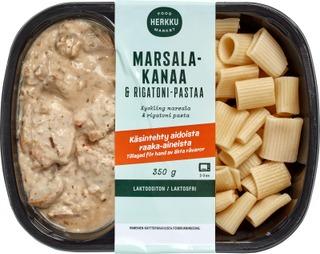 Herkku Marsala-Kanaa & Rigatoni-Pastaa 350G