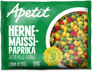 Apetit Herne-Maissi-Paprika Pakaste 200G