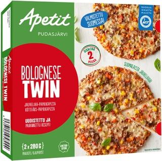 Apetit Bolognese Twin Jauheliha-Paprikapizza Pakaste 2X280g