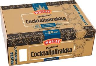 Moilas Rukiinen Cocktailriisipiirakka Noin 30Kpl/1200G, Paistovalmis Pakaste