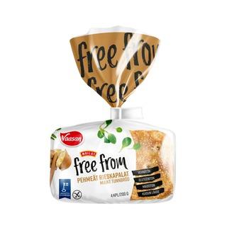 Vaasan Moilas Free From Pehmeät Rieskapalat  200 g 4 kpl gluteeniton palaleipä
