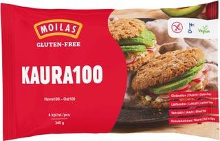 Moilas Gluten-Free Kaura100 Palaleipä, Halkaistu, 4Kpl/340G, Kypsäpakaste