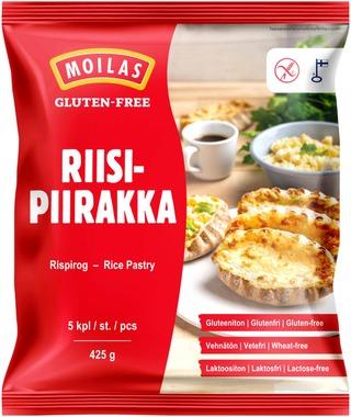 Moilas 425g Gluteeniton riisipiirakka 5kpl pakaste